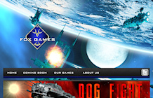 web design portfolo: Fox Games Company